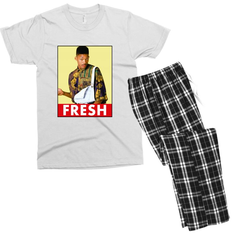 452f9aef008423 Custom Will Smith Fresh Men s T-shirt Pajama Set By Sengul - Artistshot