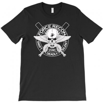 Usmc Force Recon Swift Deadly Silent T-shirt Designed By Aheupote