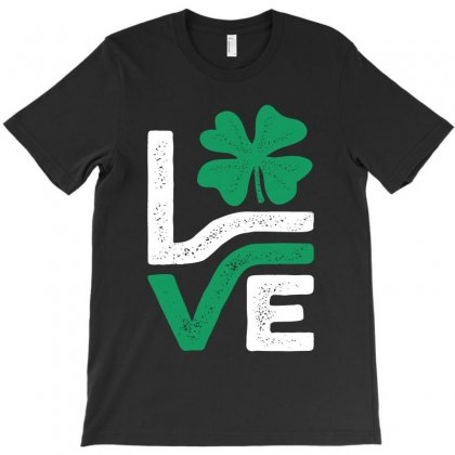 Love Irish Shamrock T-shirt Designed By Cidolopez