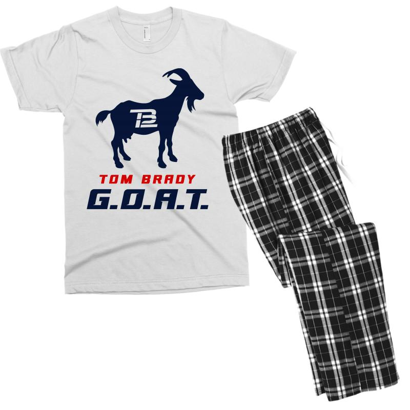 Custom Tom Brady Goat For Light Men s T-shirt Pajama Set By ... 70742ff56