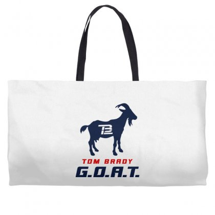 Tom Brady Goat For Light Weekender Totes Designed By Toweroflandrose