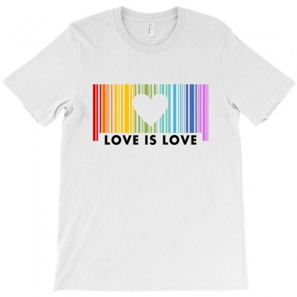 Love Is Love Barcod Rainbow For Light T-shirt Designed By Sengul