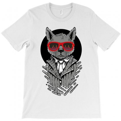 Musician Cat T-shirt Designed By Wizarts