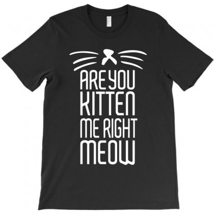 Are You Kitten Me Right Meow T-shirt Designed By Silicaexil