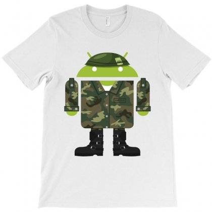 Army Android T-shirt Designed By Silicaexil
