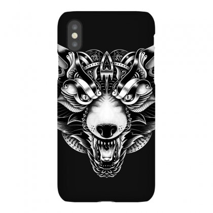 Angry Wolf Ornate Iphonex Case Designed By Quilimo
