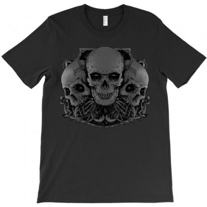 3 Skull T-shirt Designed By Quilimo