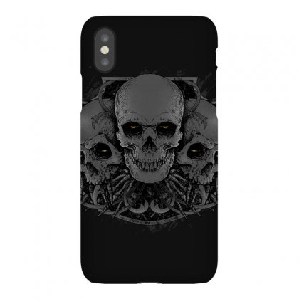 3 Skull Iphonex Case Designed By Quilimo