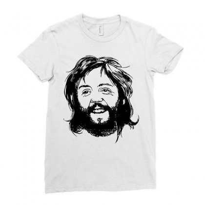 Paul Mccartney Beard Ladies Fitted T-shirt Designed By Motleymind