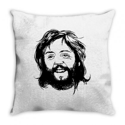 Paul Mccartney Beard Throw Pillow Designed By Motleymind