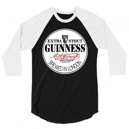 Gilmour Guinness 3/4 Sleeve Shirt Designed By Motleymind