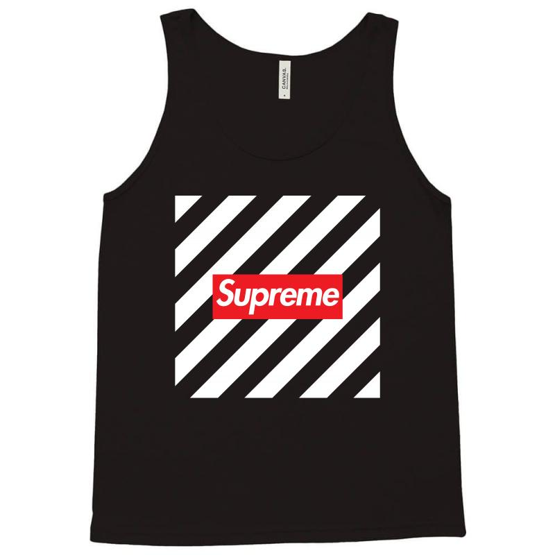 4d86b00d13e6a Custom Supreme Off White Red Tank Top By Toweroflandrose - Artistshot