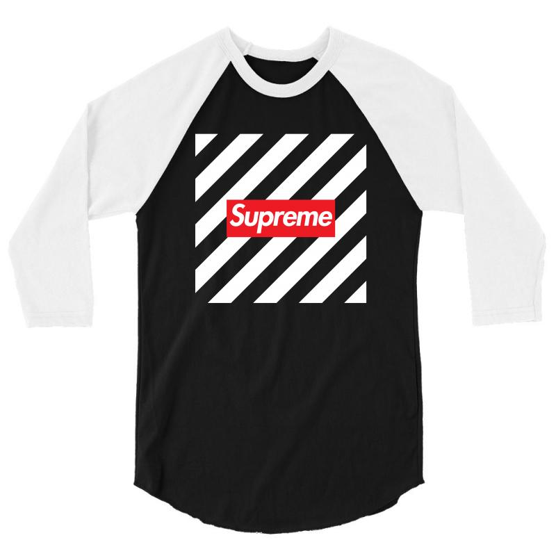 da33c404d286 Custom Supreme Off White Red 3/4 Sleeve Shirt By Toweroflandrose ...