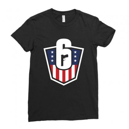 Rainbow Six Siage United States Ladies Fitted T-shirt Designed By Toweroflandrose