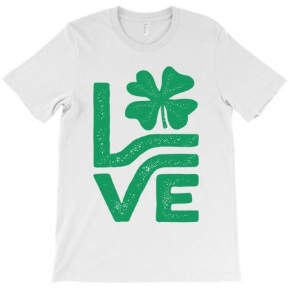 Love Shamrock Saint Patrick's Day T-shirt Designed By Cidolopez