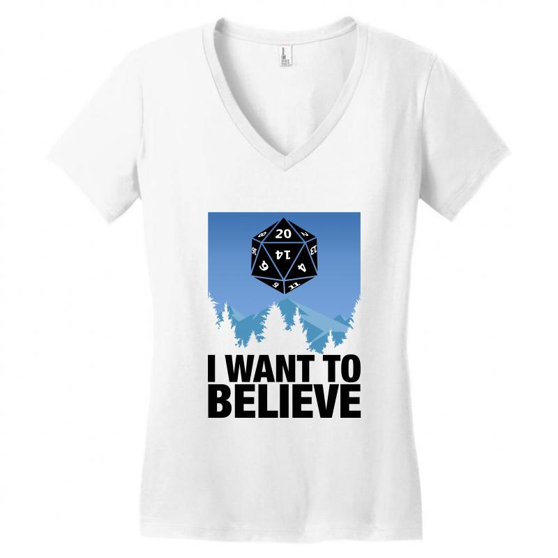 03e2fb525 Custom I Want To Believe For Light Women's V-neck T-shirt By ...