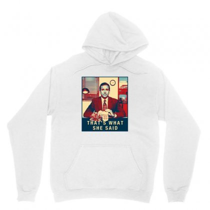 That's What She Said Michael Scott Unisex Hoodie Designed By Sengul
