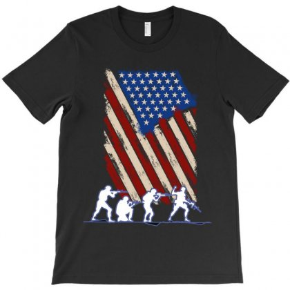 United State Flag T-shirt Designed By Wizarts