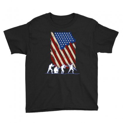 United State Flag Youth Tee Designed By Wizarts