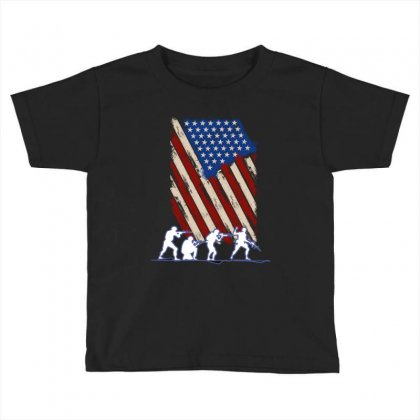 United State Flag Toddler T-shirt Designed By Wizarts