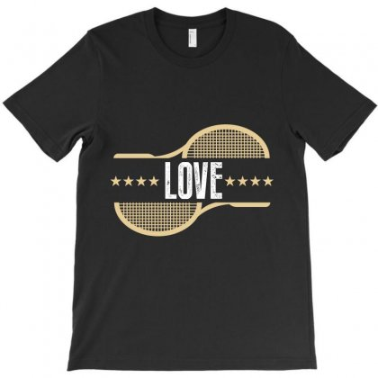 Love Tennis T-shirt Designed By Wizarts