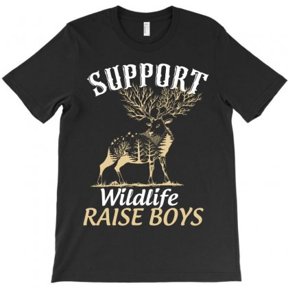 Support Wildlife Raise Boys T-shirt Designed By Wizarts