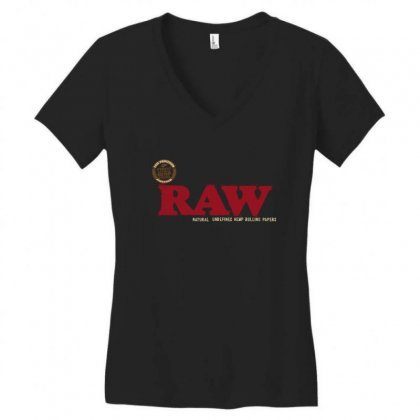 Raw Papers Women's V-neck T-shirt Designed By Paverceat