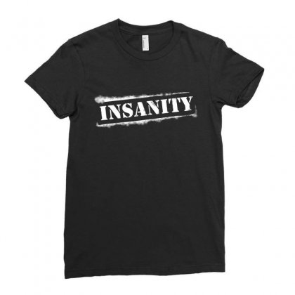 Insanity Challenge Ladies Fitted T-shirt Designed By Bamboholo