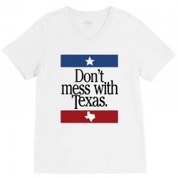don't mess with texas for light V-Neck Tee | Artistshot