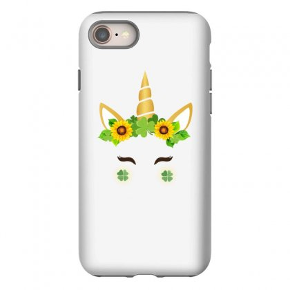 St Patrick's Unicorn Face Iphone 8 Case Designed By Party