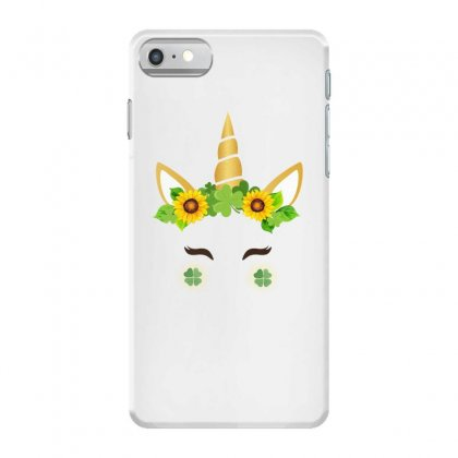 St Patrick's Unicorn Face Iphone 7 Case Designed By Party