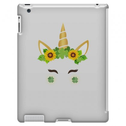 St Patrick's Unicorn Face Ipad 3 And 4 Case Designed By Party