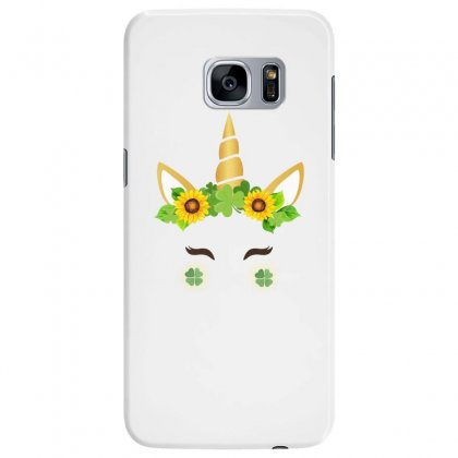 St Patrick's Unicorn Face Samsung Galaxy S7 Edge Case Designed By Party