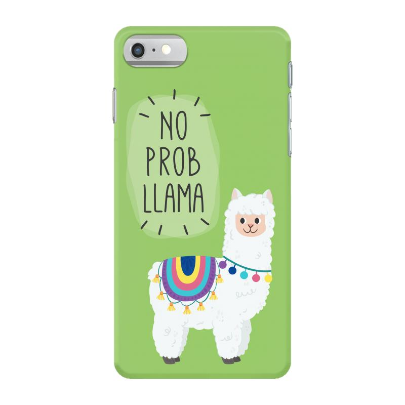 cheaper a142c 50344 No Prob Llama Iphone 7 Case. By Artistshot