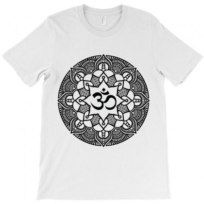Ohm Yoga Mandala T-shirt Designed By Party