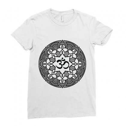 Ohm Yoga Mandala Ladies Fitted T-shirt Designed By Party