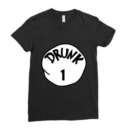 Drunk 1 St Patrick Day - Funny Friends T-shirt Drunk 1 Ladies Fitted T-shirt Designed By Party
