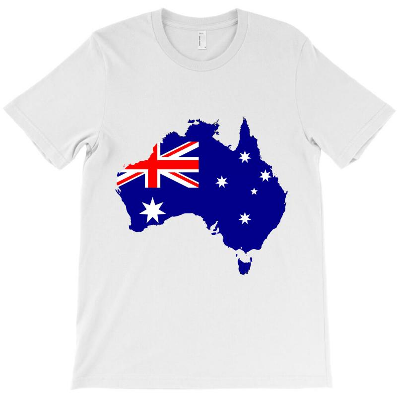 Australia Map With Flag.Australia Map Flag T Shirt By Artistshot