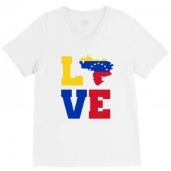 love Venezuela map tricolor V-Neck Tee | Artistshot