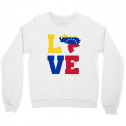 love Venezuela map tricolor Crewneck Sweatshirt | Artistshot