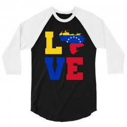 love Venezuela map tricolor 3/4 Sleeve Shirt | Artistshot