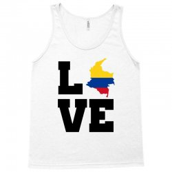 love Colombia map flag Tank Top | Artistshot