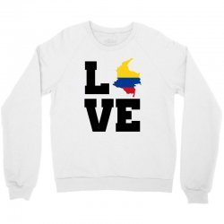 love Colombia map flag Crewneck Sweatshirt | Artistshot