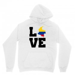 love Colombia map flag Unisex Hoodie | Artistshot