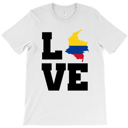 Love Colombia Map Flag T-shirt Designed By Party