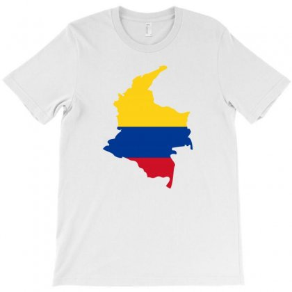Colombia Map Flag T-shirt Designed By Party