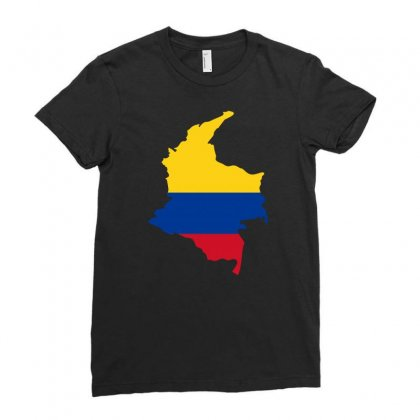 Colombia Map Flag Ladies Fitted T-shirt Designed By Party