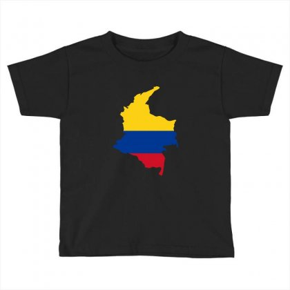 Colombia Map Flag Toddler T-shirt Designed By Party