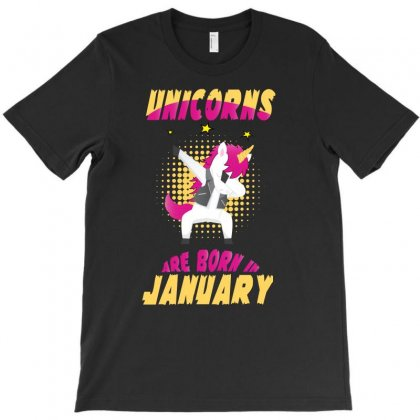 Unicorns Are Born In January T-shirt Designed By Omer Acar
