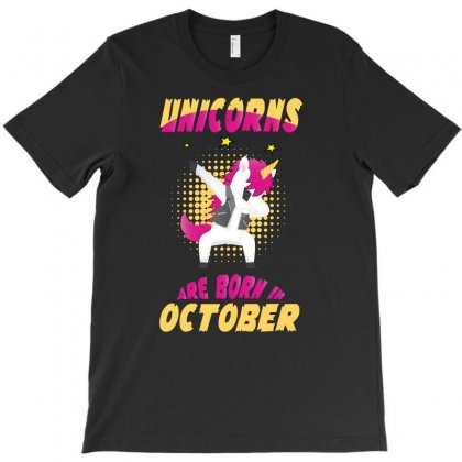 Unicorns Are Born In October T-shirt Designed By Omer Acar
